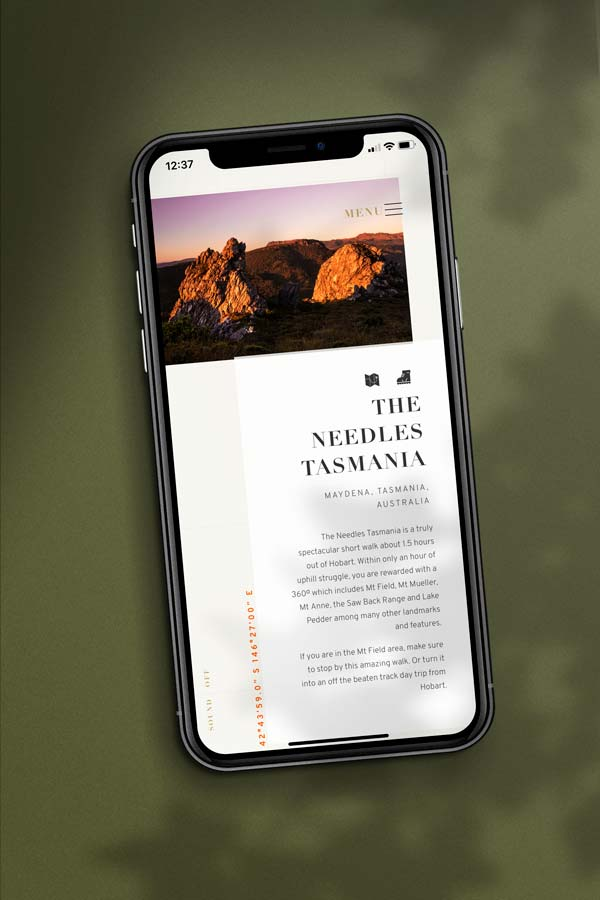 For the Love of Outdoors Web Design